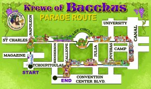 Parade Route - Krewe of Bacchus